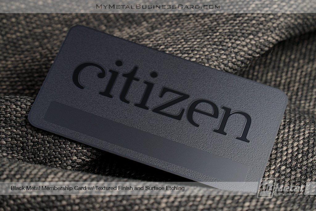 Textured Black Metal Business Cards | World Leader in Metal ...