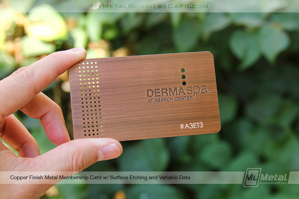 My Metal Business Card  Copper Finish Loyalty Card 21633