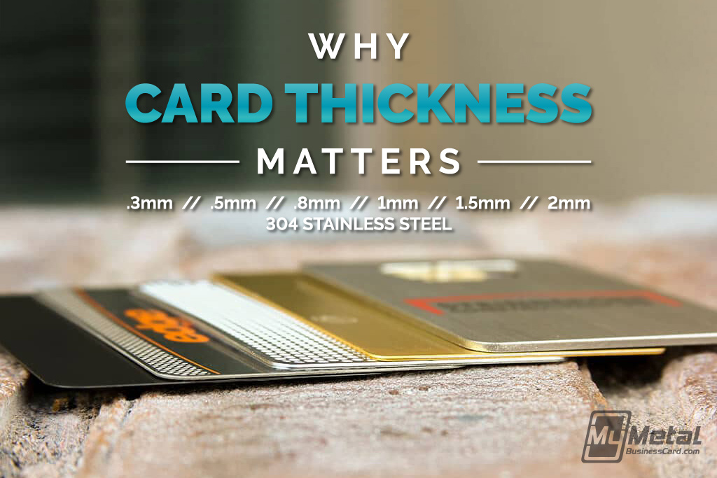 My Metal Business Card |Mmbc Why Card Thickness Matters