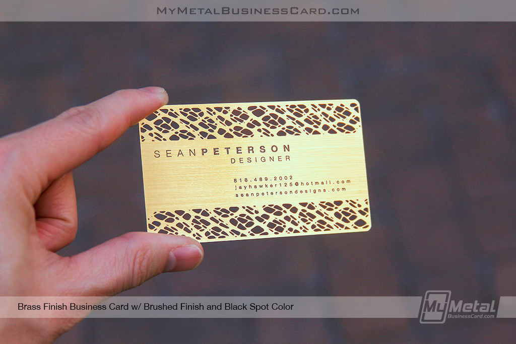 My Metal Business Card |Brass Finish Card With Brushed Finish 455493