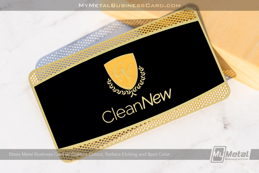 Cleannew Brass Metal Card Gold Finish - Mymetalbusinesscard